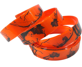 Orange camouflage collar straps in TPU coated webbing