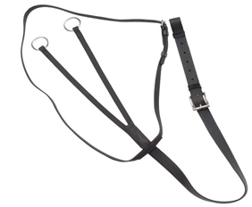 19mm wide PVC running martingale supplies in black