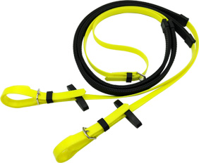 Cleanable TPU neon yellow equestrian reins factory