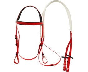 Fluo red TPU horse tack headstall with rein wholesale