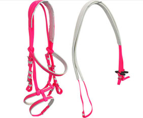 Hot pink PVC horse bridle accessories wholesale retail