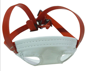 Red high tensile strength helmet chin straps PVC with soft cup