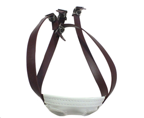 Brown sporting football helmet chin straps PVC wholesale retail