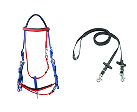 blue and red mixed PVC waterproof endurance bridle
