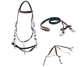 equestrian items bridle halter combination PVC brown