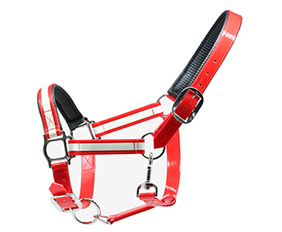 durable waterproof glowing halter in red